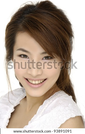Beautiful girl smiling portrait - stock photo
