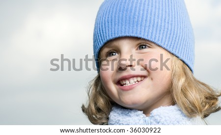 Beautiful girl winter portrait - stock photo