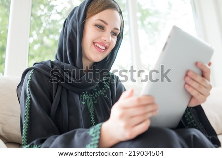 Beautiful girl with a scarf - stock photo