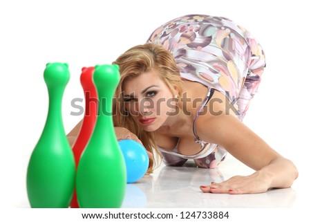 Pin girl insertion bowling