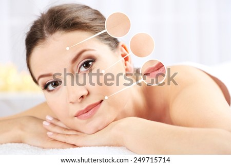 Beautiful girl with glowing skin close-up - stock photo