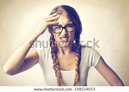 Admirable Nerd Girl Stock Photos Royalty Free Images Amp Vectors Shutterstock Hairstyles For Women Draintrainus
