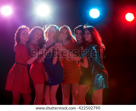 Beautiful girls dancing at the party