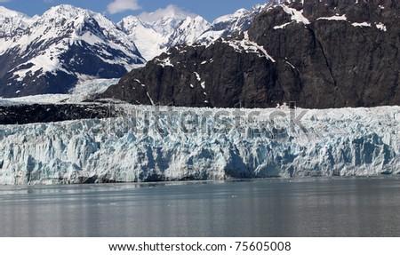 Beautiful glacier in Glacier Bay National Park, in Alaska. - stock photo