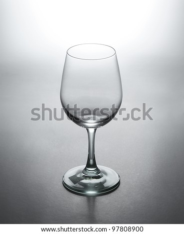Beautiful glass wine isolated on white background.