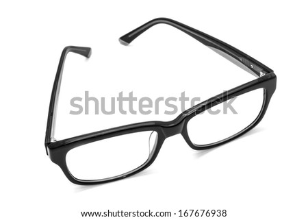Beautiful glasses isolated on white background  - stock photo