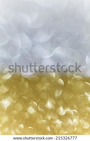 Beautiful Gold and Silver background Festival for Christmas and New Years;