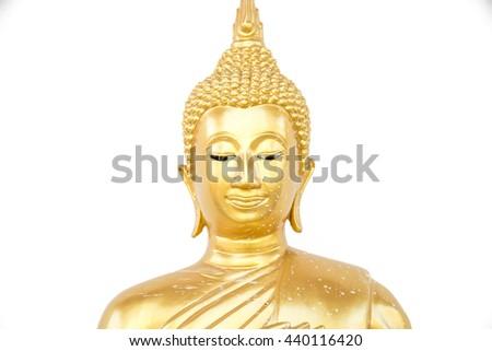 beautiful golden buddha statue - stock photo