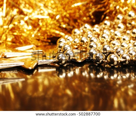 Beautiful golden christmas decoration