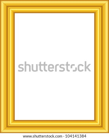 Beautiful golden framework. Picture frame. - stock photo
