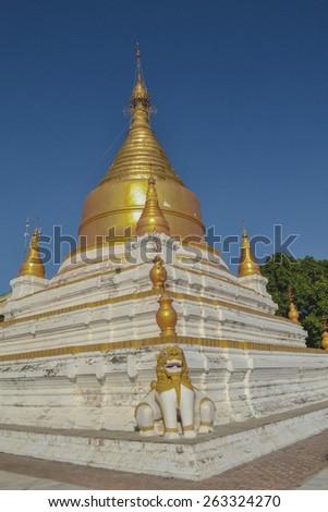 Beautiful Golden pagoda, Mandalay. Burma - stock photo