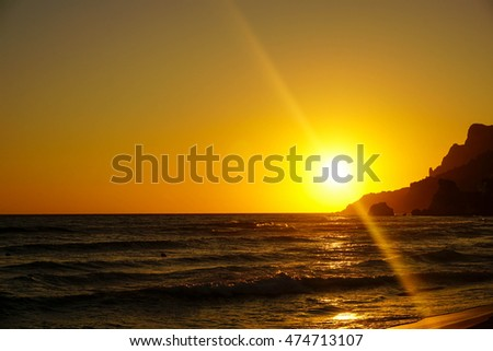 Beautiful golden sunset