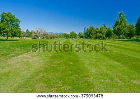 Beautiful golf course. - stock photo