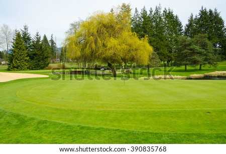 Beautiful  golf course.  Vancouver, Canada.