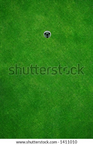 Beautiful golf green seen from above