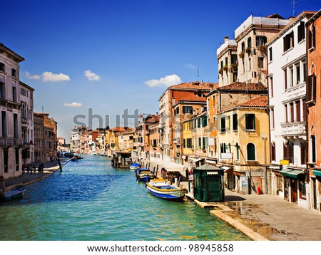 Beautiful Grand Canal, Venice Italy