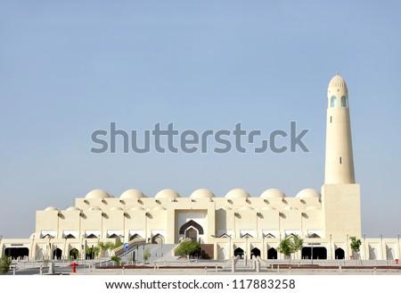 Beautiful grand mosque of Doha, Qatar - stock photo