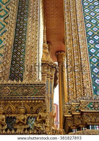 Beautiful Grand Palace in Bangkok. Thailand, Asia.
