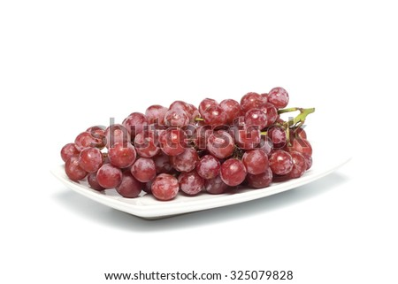 Beautiful grapes isolated on white - stock photo