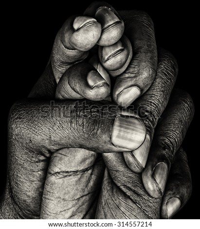 Beautiful Graphic Image of a Black Mans Hands