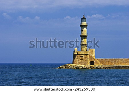 Beautiful Greece - Chania town Crete, light house