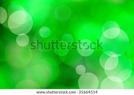 Beautiful Green Bokeh - stock photo