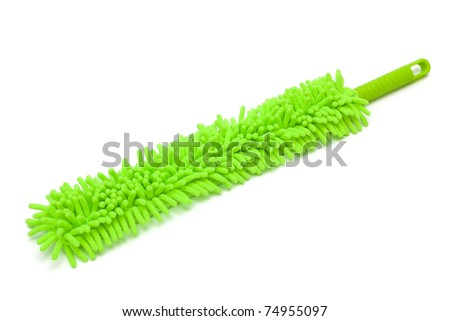 beautiful green duster on white background