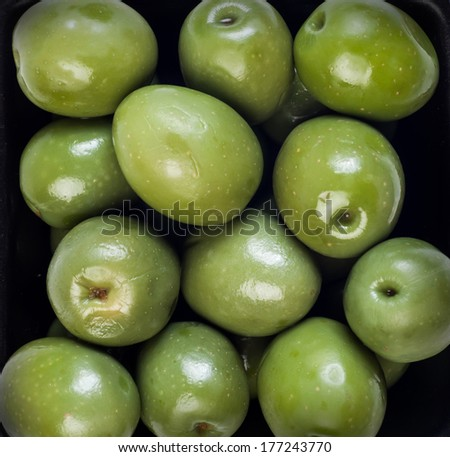 Beautiful green olives