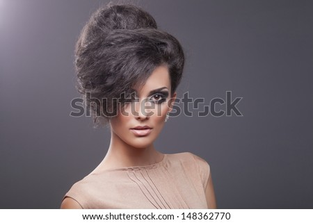 Beautiful hair, portrait of an young girl - stock photo