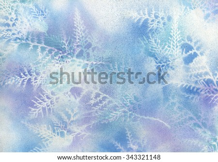 Beautiful hand drawn winter background  - stock photo