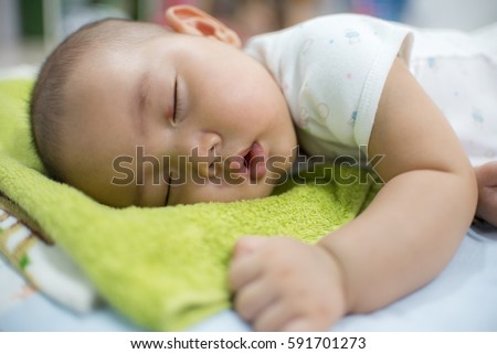 beautiful happy baby sleeping,baby asian sleep