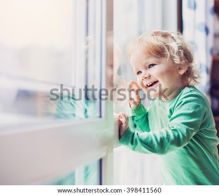 Beautiful happy smiling baby - stock photo