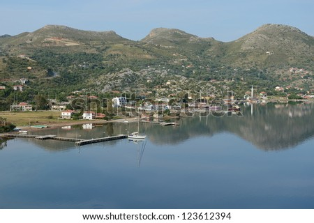 beautiful harbor and marina for yachts - stock photo