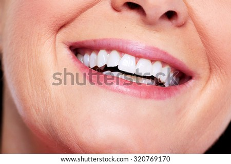Beautiful healthy woman smile. Dental health care