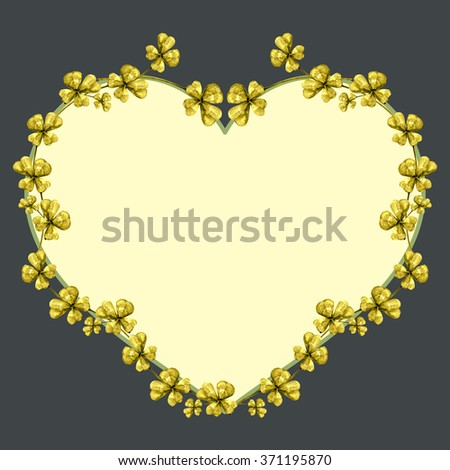 Beautiful heart shaped  frame background with a free space for your text - stock photo