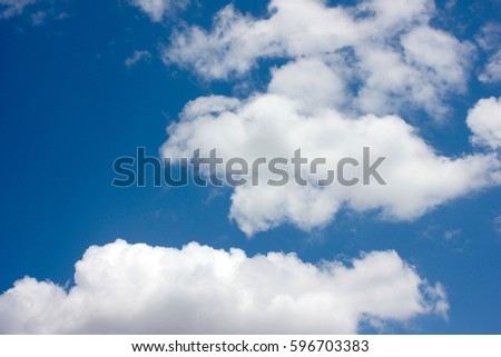 beautiful heavenly landscape with clouds on the sunny sky