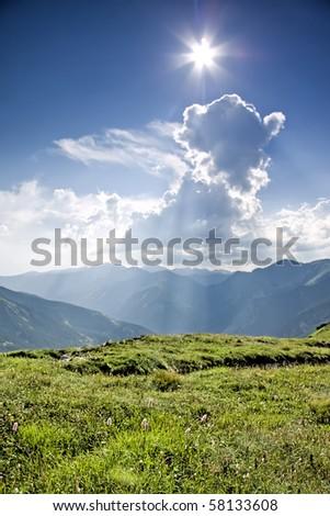 Beautiful high mountain in Europe - Tatra. Poland. - stock photo
