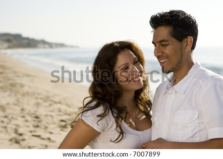 Beautiful Hispanic Couple at the beach