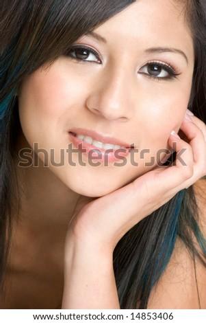 Beautiful Hispanic Woman - stock photo
