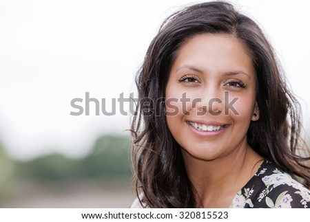 Beautiful Hispanic Woman Portrait