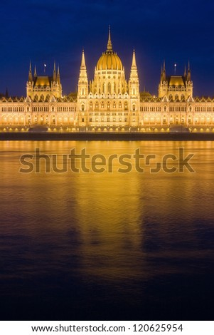 Beautiful historic building of the Hungarian parliament.