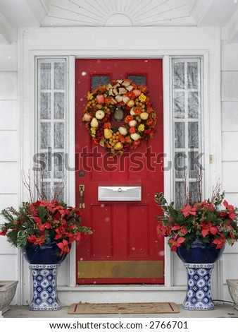 beautiful holiday entrance