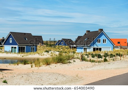 Beautiful holiday houses on the coast. For summer vacations.