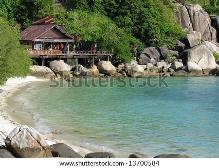 Beautiful home at the beach, Ko Thao Island, Thailand - stock photo