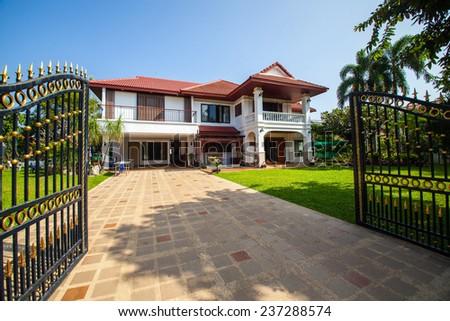 Beautiful Home Exterior - stock photo