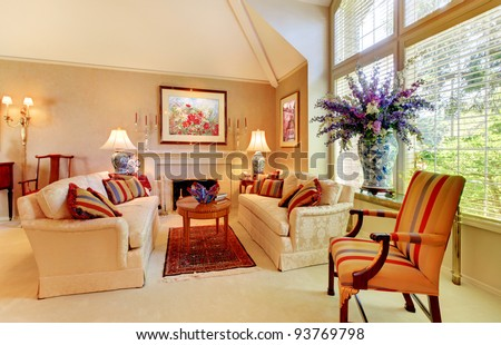 Beautiful home interior living room luxury design.