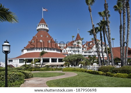 Beautiful Hotel Del Coronado in San Diego, California - stock photo