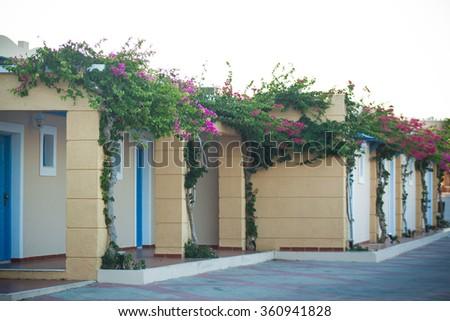 Beautiful hotel in Kos - stock photo