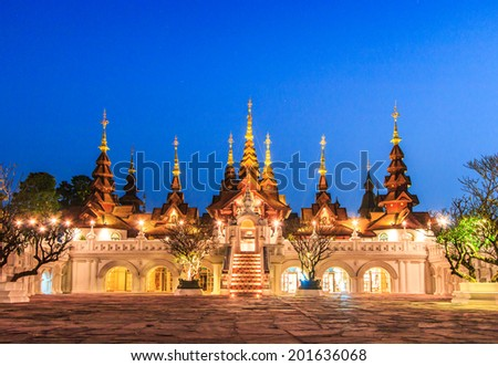 Beautiful Hotel Old - Thailand art legacy - Old-style hotels Of Chiang mai Thailand  - stock photo