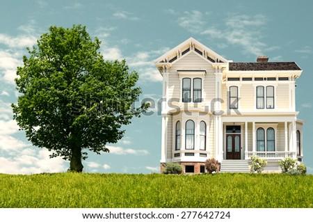 Beautiful house - stock photo